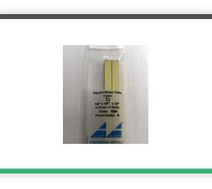 1-4 Square brass tube 12 long pack of