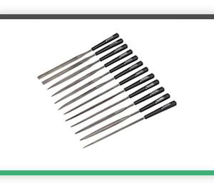 12 needle files with plastic handles