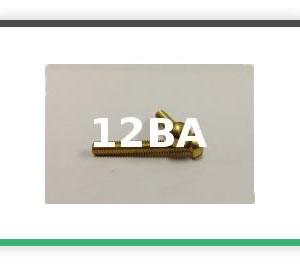 12BA Round head brass bolts