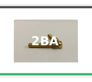 2BA Roundhead brass bolts