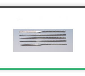 5 piece 100mm x 2mm MINI Diamond file set