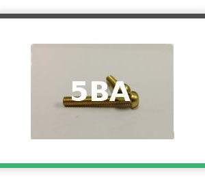 5BA round head brass bolts