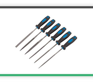 6 piece 140mm Soft Grip Needle File Set