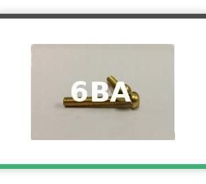 6BA Round head brass bolts