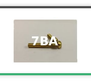 7BA Round head brass bolts