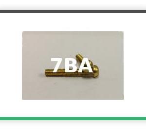 7BA Round head brass bolts