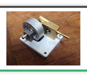 Horizontal cylinder Oscillating steam engine. HOSC