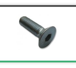 M3 x 10mm countersunk steel pack of 10