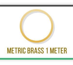 Metric Brass tube 1 Meter long