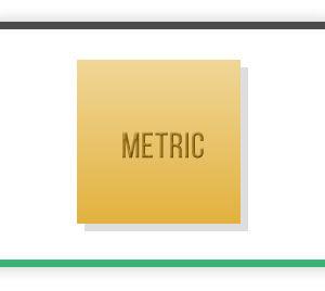 Metric Brass squares