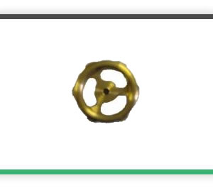 3 spoke brass hand wheels