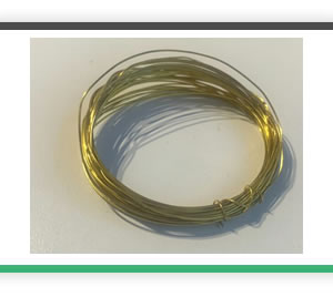 0.5mm diameter brass wire 5 metres